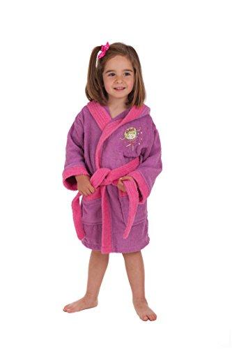 Secaneta Albornoz Bordado, Algodón, Colores, Modelo Mandy, para Niña de 6 a 8 Años, Multicolor