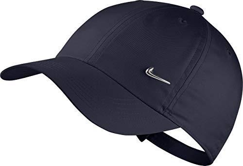 Nike Kinder Unisex Y NK H86 CAP SWOOSH Mütze, Blau (obsidian/Metallic silver), One size