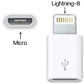 PASKMALL Micro USB to Lighting 8 pin Cable Charger Adapter Converter USB Connector for iPhone 5 5S 5C 6 6S 7S Plus SE iPad I6