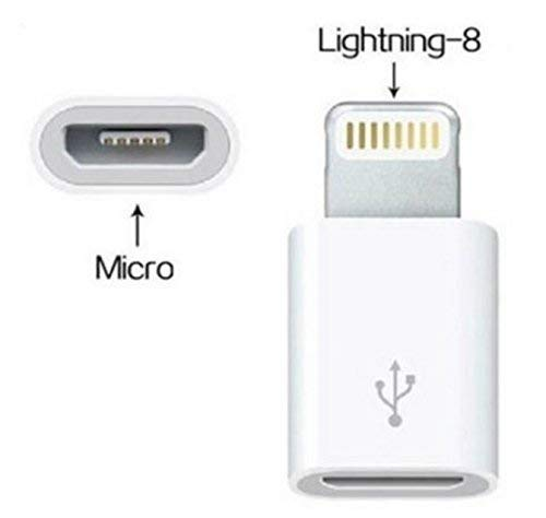 SKELPWORLD Micro USB to Lighting 8 pin Cable Charger Adapter Converter USB Connector Data Transfer for iPhone 5 5S 5C 6 6S 7S Plus SE iPad I6
