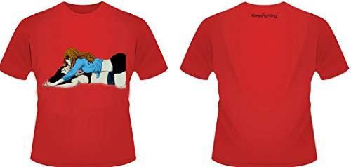 TJZY T-Shirt, Party-T-Shirt, Persönlichkeit, verschiedene Größen, dehnbar, funktionales Design, schmal, süß, Tee LGBT, Sommerkleid, rot