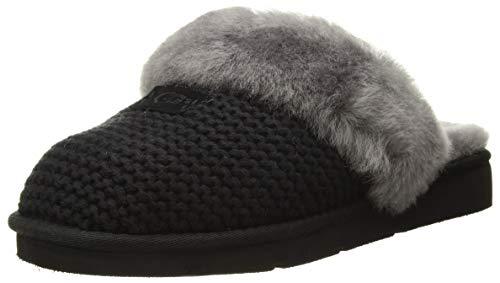 UGG Cozy Knit Slipper, Schwarz - Grau, 39 EU (Ugg Boots Und Hausschuhe)