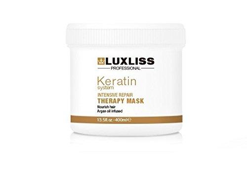 Intensiv-therapie (LuxLiss Professional Keratin Intensiv-Reparatur-Therapie Haarmaske, 400ml)