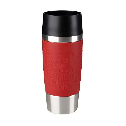 Emsa 513356 Travel Mug Standard-Design, Thermobecher, 360 ml, rot