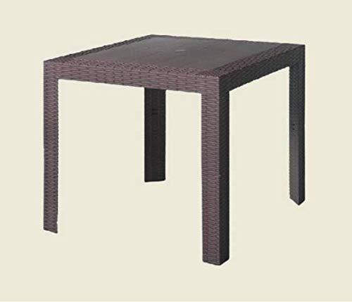 Areta are071 tavolo, modello saturno, marrone, 80 x 80 cm