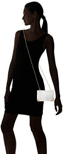Foley + Corinna Framed Wristlet Clutch Donna Pelle White