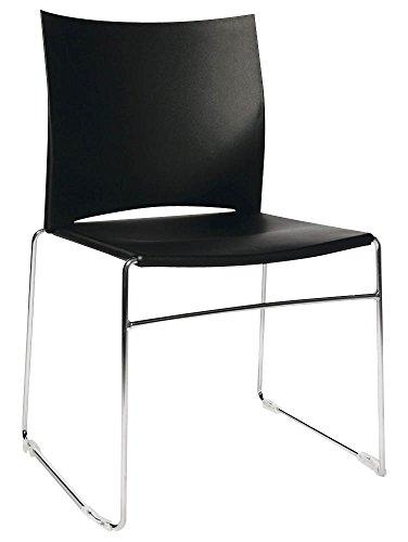 4 Topstar W-Chair Besucherstühle schwarz
