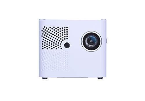 Aiptek MobileCinema i400 DLP Pico Projector (WLAN, Airplay, Miracast, 400 ANSI Lumen, Kontrast 1500:1, WXGA, Android, iOS, Win, Mac, HDMI, USB, micro USB, 6W Stereo-Lautsprecher) Weiß