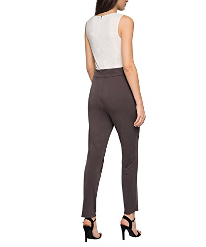 ESPRIT Collection Damen Straight Leg Jumpsuits mit Stretch, Gr. 36/L32 (Herstellergröße: S), Braun (Taupe 240) - 2