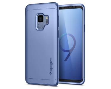 Spigen [Thin Fit 360 Samsung Galaxy S9 Hülle (592CS22873) 360° Rundumschutz-Schale mit Gratis Panzerglas Handyhülle Schutzhülle Case (Coral Blue)