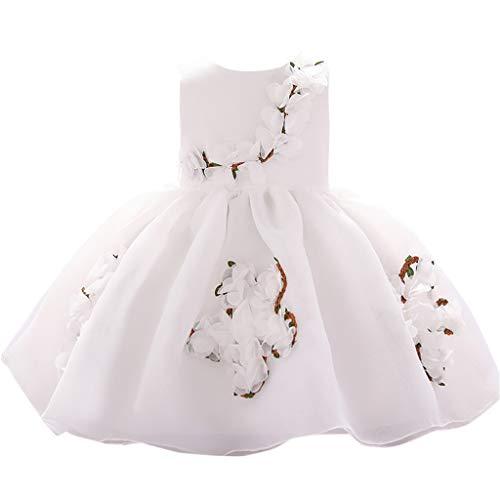 sunnymi  ® 0-3 Jahre Kleid Baby Mädchen Blumen Prinzessin Party Performance Formal Tutu Dress (Damen Schuhe 11 Größe Formal Dress)
