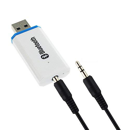 YETOR - Adaptador de receptor Bluetooth inalámbrico para auto, receptor de música, adaptador de coche con Bluetooth, sistema de sonido estéreo (entrada auxiliar) con cable de 3,5 mm (LY-W)