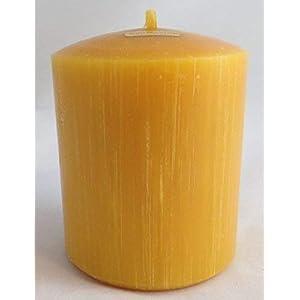 1 Kerze, 10 x 8 cm, Stumpenform aus 100% Bienenwachs, handgemacht, direkt vom Imker aus Deutschland, Bayern, von der…