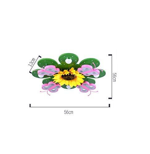 MJY Kinder 'S Zimmer Lampen der Decke, kreative Led Blumen junge Mädchen Prinzessin Price Deckenleuchte, Kindergarten-Klassenbeleuchtung 56 * 56 * 13Cm Select,56 * 56 * 13 cm (Blume Baby Lampe)