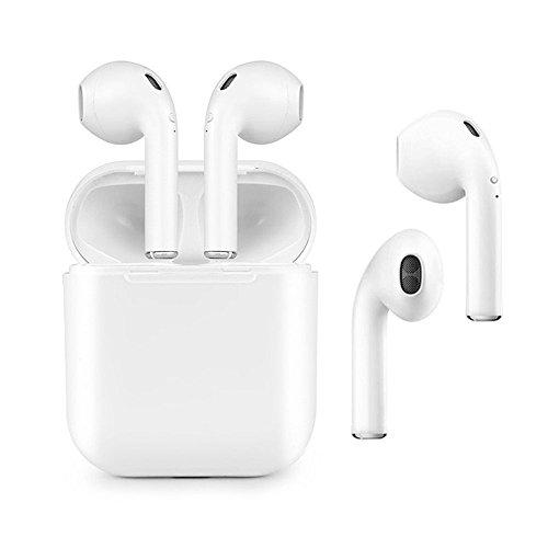 Écouteurs Bluetooth, Écouteurs sport Bluetooth avec étui de charge 4.2 Sans fil InEar Headphones Earbuds Wireless Stéréo Intra-auriculaire Mains-libres Mic Intégré Oreillettes sans Fil Casque Bluetooth pour iPhone/Android