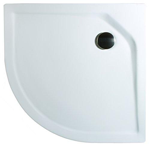 Schulte Duschbecken extra-flach 80×80 cm Sanitär-Acryl Radius 550 inkl Ablauf und Füßen Catania