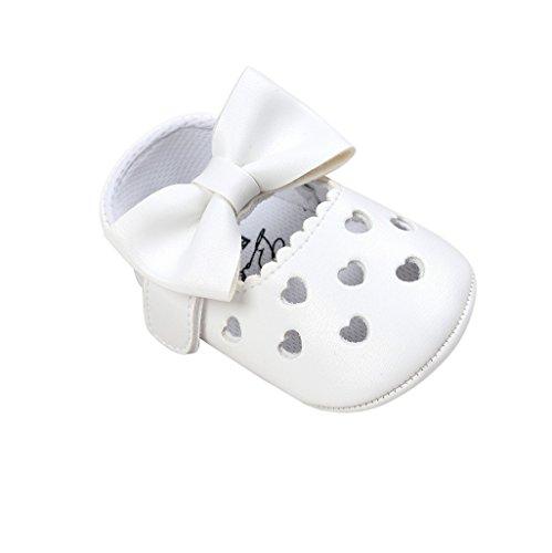 Auxma Baby schuhe mädchen Bowknot-lederner Schuh-Turnschuh Anti-Rutsch weiches Solekleinkind für 0-18 Monate (13(12-18M), AA) (Womens Double-knit)