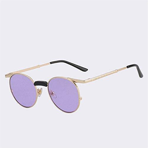 Sonnenbrille Vintage Runde Frauen Retro Gläser Outdoor Schattierungen schützende Strand Reisen Mode UV400, D