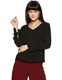 Symbol Amazon Brand Women's Plain Regular Fit Top