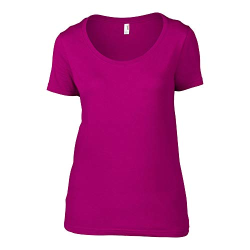Anvil Ladies Short Sleeve Sheer Scoop T-Shirt - Anvil Short Sleeve T-shirt
