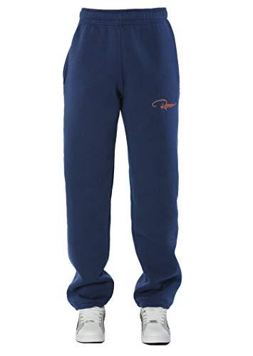 REDRUM Plain Sweatpants Jogger Pants Jogginghose aus Baumwolle - Sporthose, Trainingshose, Fitnesshose oder Bequeme Freizeithose für Damen und Herren (S, NavyBlauOrange)