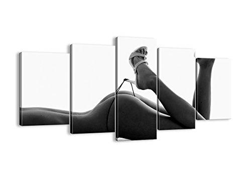 Quadro su tela - cinque 5 tele - larghezza: 160cm, altezza: 85cm - numero dell