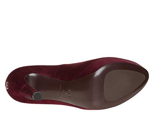 Christian Dior Femmes Chaussures à talons hauts cuir véritable Bordeaux