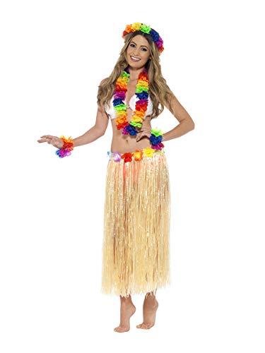 Smiffys 44592 - Regenbogen-Hawaii-Set mehrfarbige mit Garland Stirnband und Armband