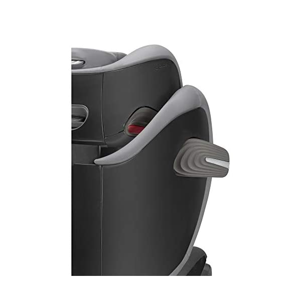 CYBEX Gold Solution S-Fix Child's Car Seat, For Cars with and without ISOFIX, Group 2/3 (15-36 kg), From approx. 3 to approx. 12 years, Lavastone Black  Group 2/3 high back booster seat. suitable from 15 - 36kg. designed to be used until a maximum height of 150cm, approximately 12 years. 3-position optimized reclining headrest prevents the child's head from tipping forwards, and integrated ventilation system keeps them cool. The integrated lisp. system offers increased safety in the event of a side-impact collision by reducing the forces by approximately 25%. 3