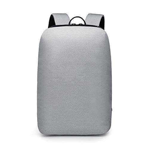 15,6 Slim Laptop Rucksack, Business Laptop Rucksack Anti-Rucksack Flug Approved Carry On Bag für Männer und Frauen-schwarz,LightGray