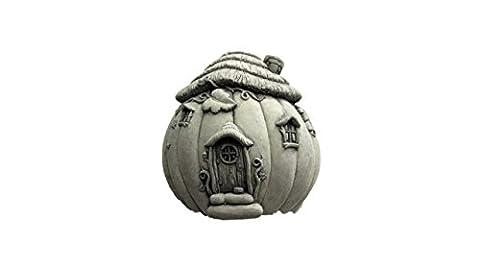 Steinfigur Feenhäuschen 7 , Wandbild aus Steinguss, Wanddeko,