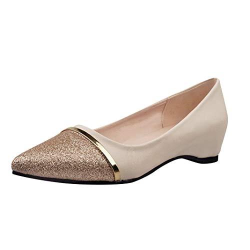 Damen Schuhe, Resplend Niedrige Ferse Flache Schuhe Mode Spitzschuh Schuhe Lässige Sandalen Party Brautschuhe
