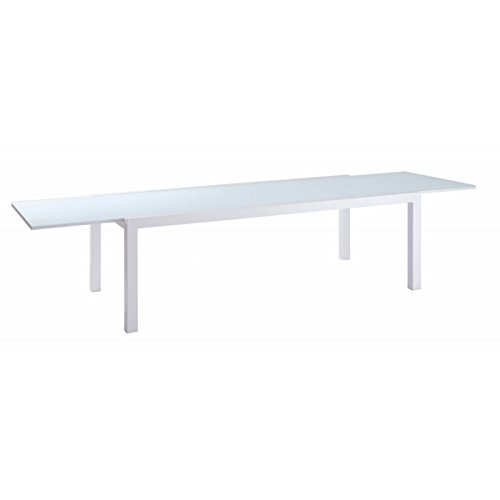 Now's Home Indoor Outdoor - Table à rallonges Long Island Blanche, Now's Home