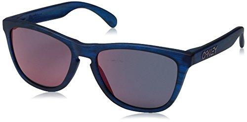 Oakley Herren Frogskins Sonnenbrille, Blau (Matte Blue Woodgrain), 55