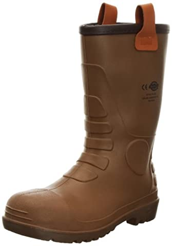 Dickies Groundwater Super Safety, Bottes en caoutchouc homme, Marron (Brown), 45 EU ( 11 UK)