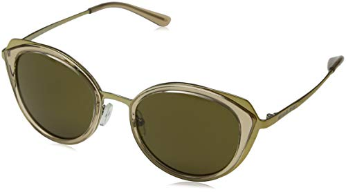 Michael Kors Damen CHARLESTON 116873 52 Sonnenbrille, Shiny Pale Gold/Brown Transparent/Olive Solid,