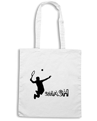 T-Shirtshock - Borsa Shopping OLDENG00246 smash kids Bianco