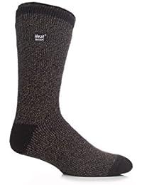 1 Paire de véritable chiné-Fleck Heat Holders Chaussettes thermique hiver pour homme :  39–45–Noir/gris