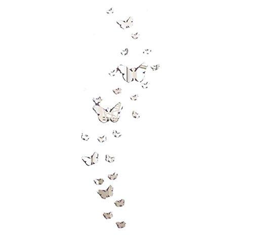 Maolanku 30PC farfalla Combinazione DIY 3D specchio adesivi murali della decorazione della casa - Pannello Di Vetro Del Pannello Della Finestra