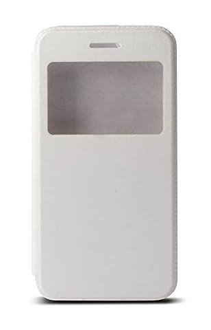 Iphone 4 S Blanc 16 Go - CABLING® Coque Etui Pochette Folio Housse Fenêtre