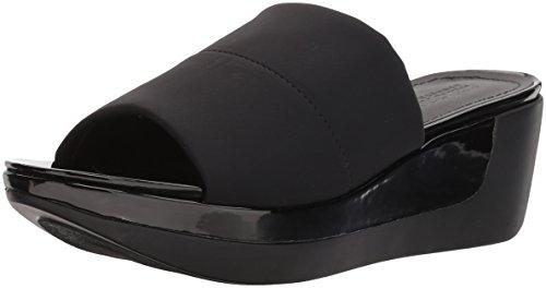 Kenneth Cole REACTION Women's Pepea Slide Platform Single Band Sandal Wedge, Black, 9.5 M US -