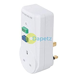 Dapetz ® Plug-in Active RCD 13A UK 250V~ 50Hz Prevents Electric Shock from Faulty Devices
