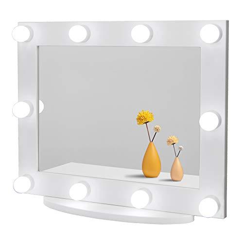 Waneway Espejo con Luces Estilo Hollywood, Espejo Grande Iluminado Maquillaje Vestidor y Dormitorio...