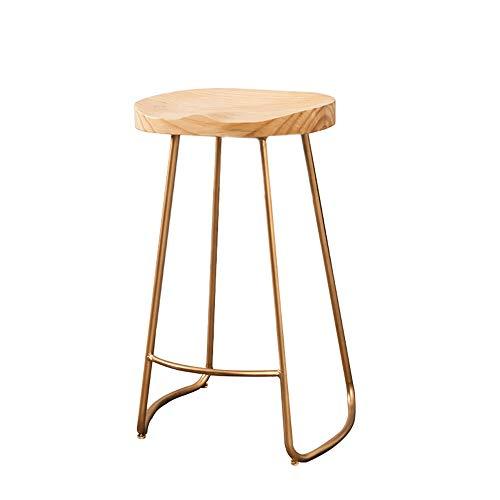 chenyang86 Chaise - Chaise de bar tabouret haut en bois massif avec salon simple et moderne (Couleur : D, taille : 38 * 46 * 75cm)