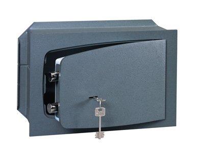 CISA - Cassaforte sicurezza a chiave a muro 1 ripiano L36xH24xP20 cm 8A010/31