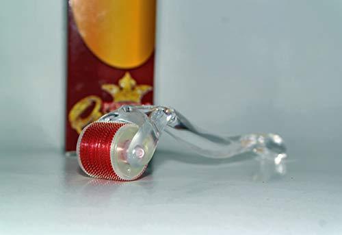 Dermaroller von Pipper's Queen - 540 Nadeln aus Titan - Titannadeln 0,5mm - Microneedling für Gesicht und Körper Gegen Falten - Anti Age - Narben - Schwangerschaftsstreifen - Hyper-Pigmentierung