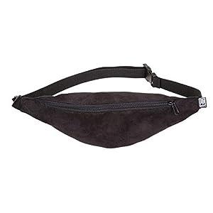 Bauchtasche schmal, Kunstwildleder schwarz, Hipbag, Umhängetasche, fanny pack, Hüfttasche