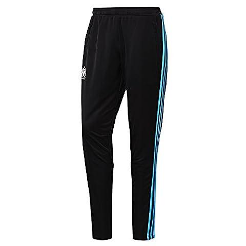 Adidas Bas de survêtement de Football Officiel de l'Equipe de Marseille OM noir 2016-2017 pantalon d entrainement (M)