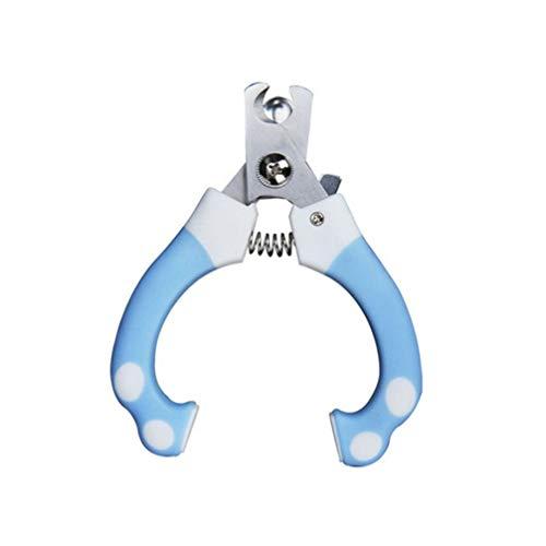 Balacoo Hund Nagelknipser und Trimmer Schutznagelschneider sicher Klauenschere mit Nagelfeile (blau Größe L)