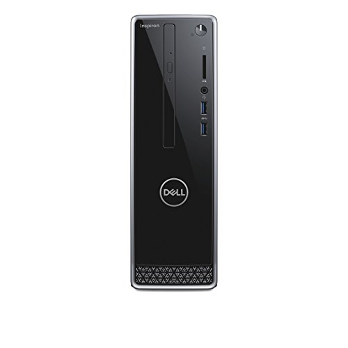 Dell Inspiron 3470 Desktop PC (Intel Core i5-8400, 1024GB Festplatte, 8GB RAM, Intel UHD Graphics 630, Win 10 Home) Schwarz mit Silber Trim (Inspiron Dell Desktop-computer)